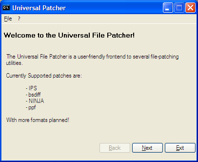 Thumbnail 1 for Universal ROM patcher